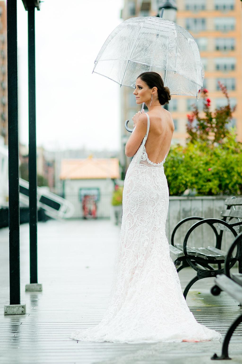 Gorgeous Low Back Wedding Dress - Yacht Wedding Venues