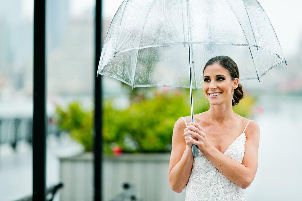 Rainy Day Wedding Photos - Yacht Wedding Venues