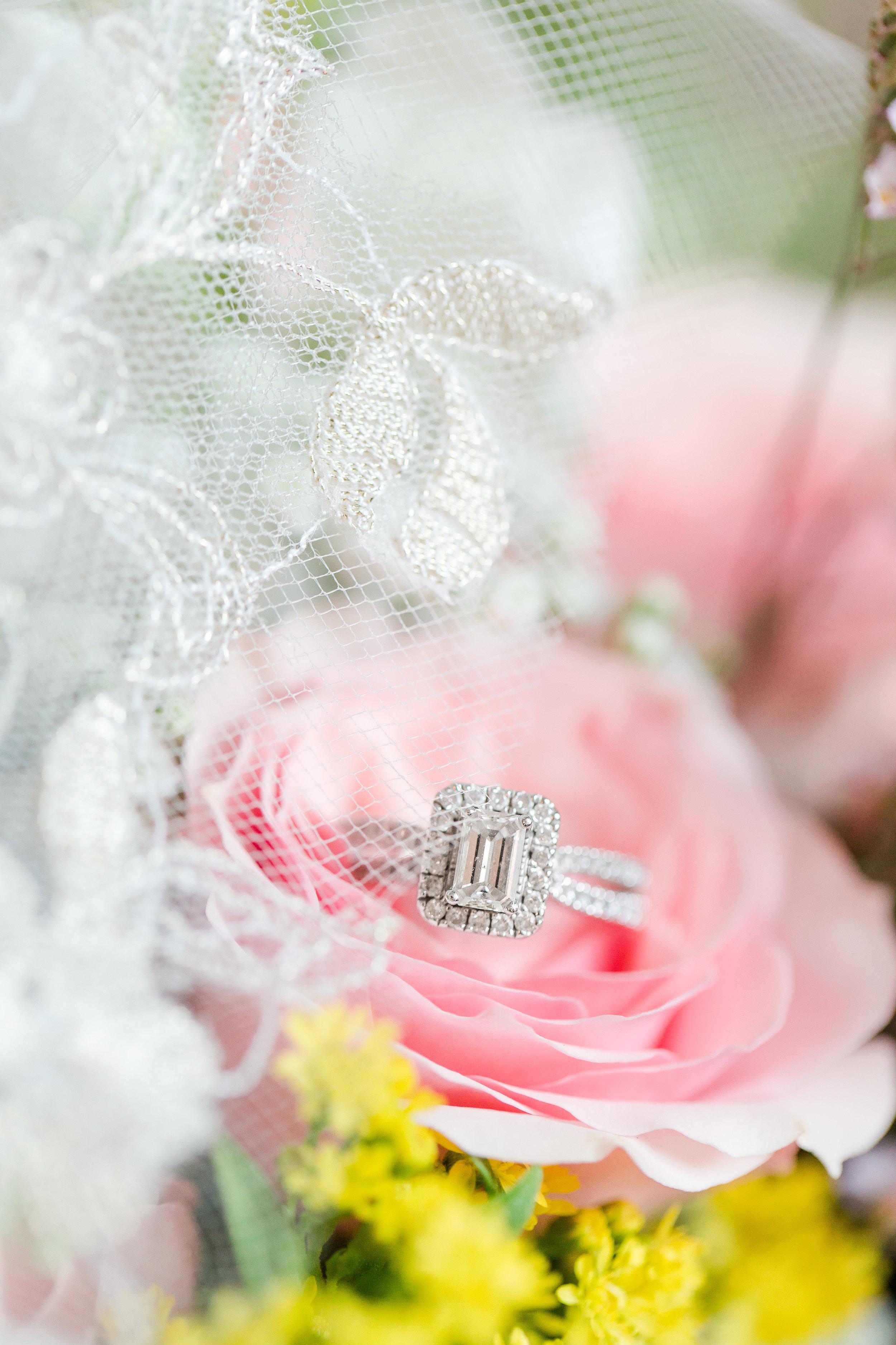 Rectangular Halo Engagement Rings - West Virginia Wedding Photographer - Wedding Venue