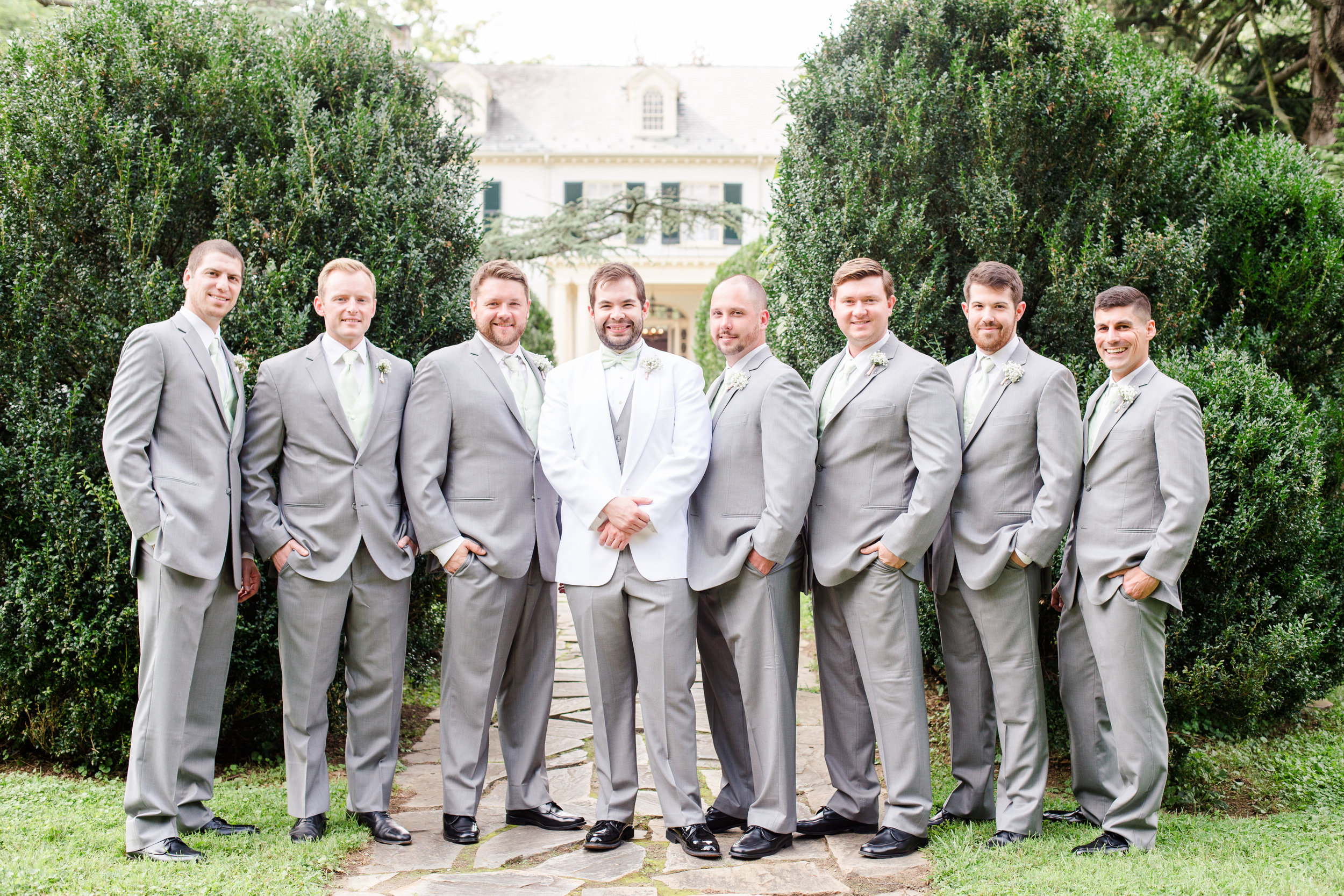 Grey Groom Suit Rental - West Virginia Wedding Photographer - Wedding Venue