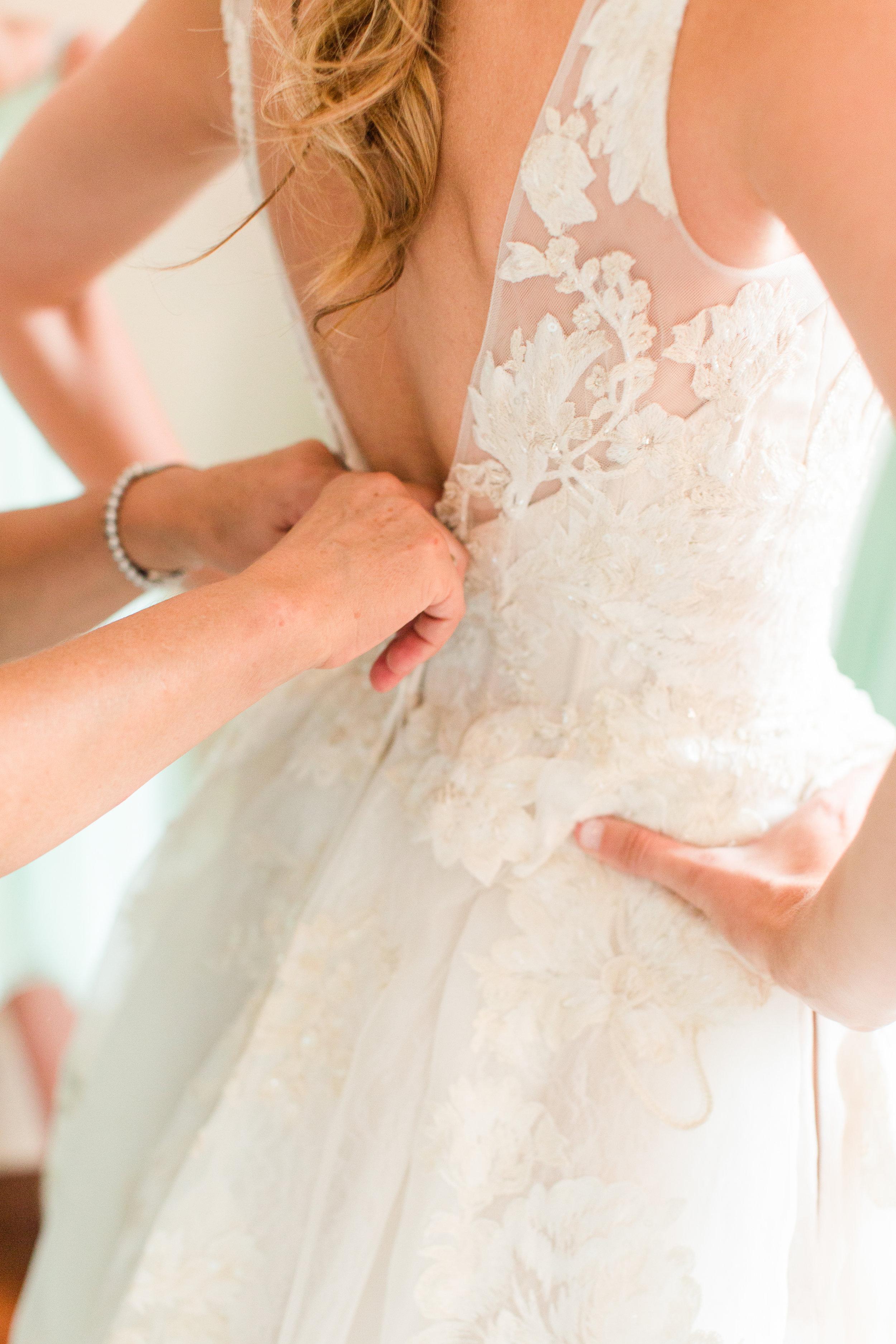 Lace Lowback Wedding Dress - West Virginia Wedding Photographer - Wedding Venue