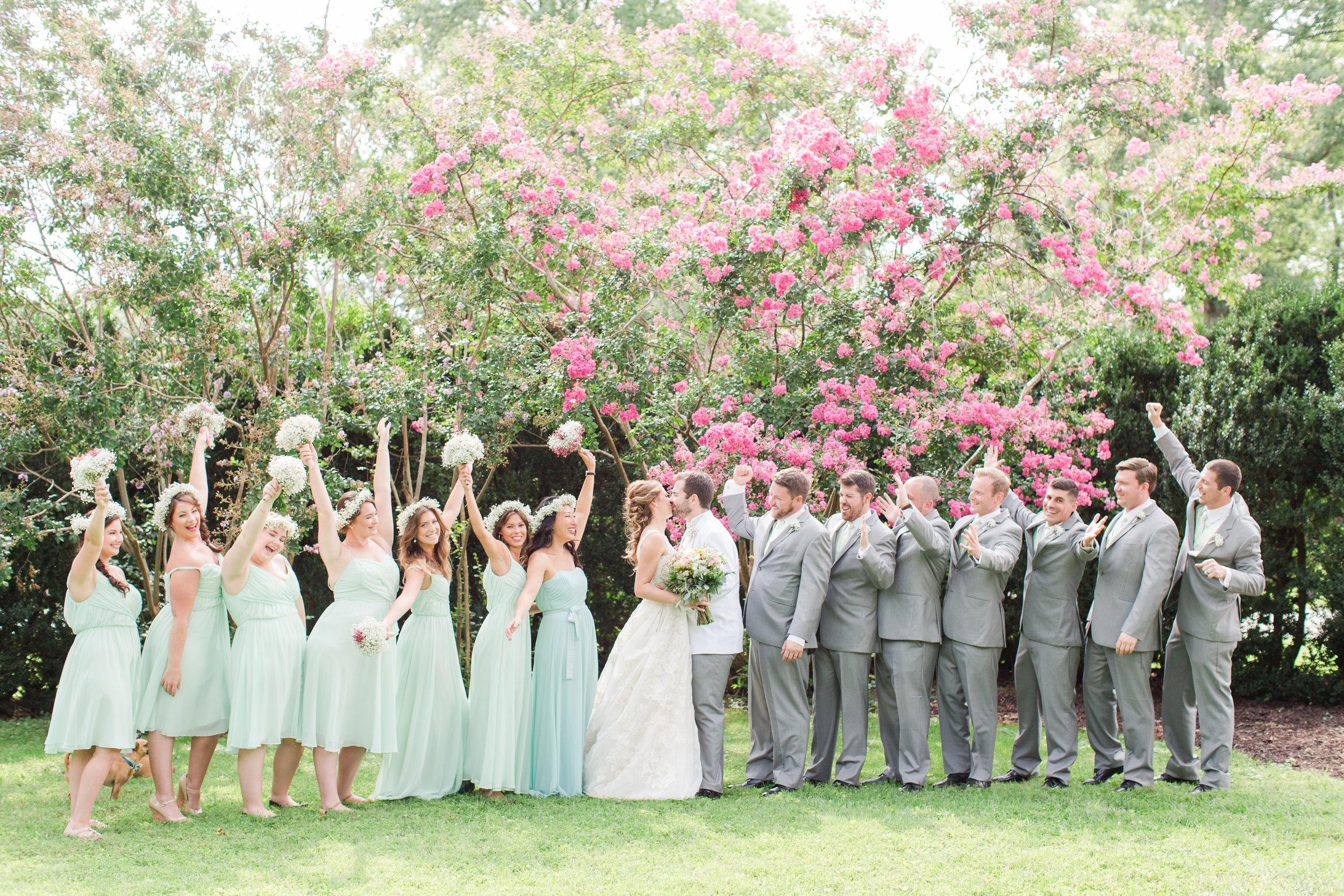 Mint Bridesmaid Dresses - West Virginia Wedding Photographer - Wedding Venue