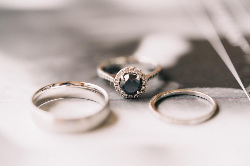 Gorgeous Black Stone Engagement Ring - An Intimate Ritz Carlton Dubai Wedding