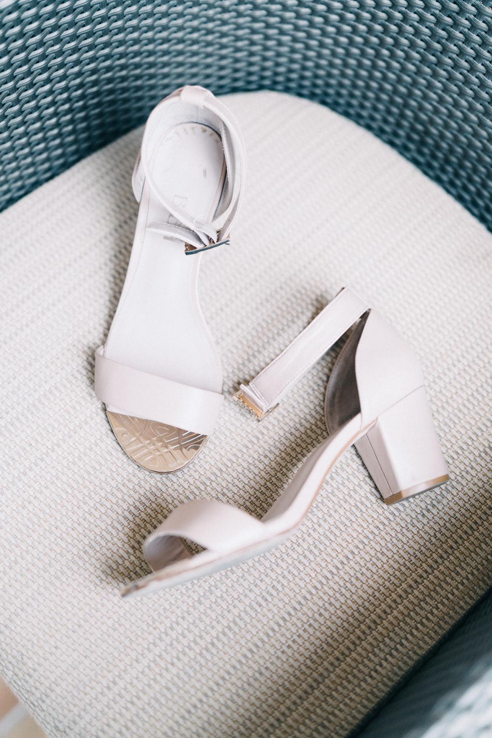 White Block Wedding Heels - An Intimate Ritz Carlton Dubai Wedding