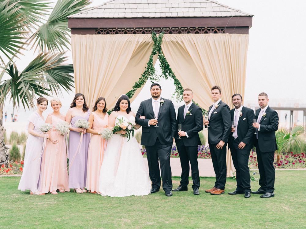 Pastel Wedding Dresses - An Intimate Ritz Carlton Dubai Wedding