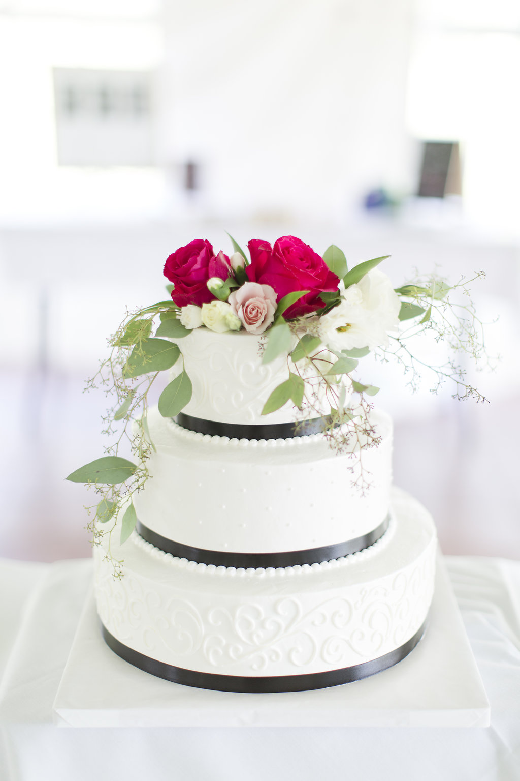 Gorgeous White Wedding Cakes - Sheboygan Town & Country Golf Club Wedding - Wisconsin Wedding