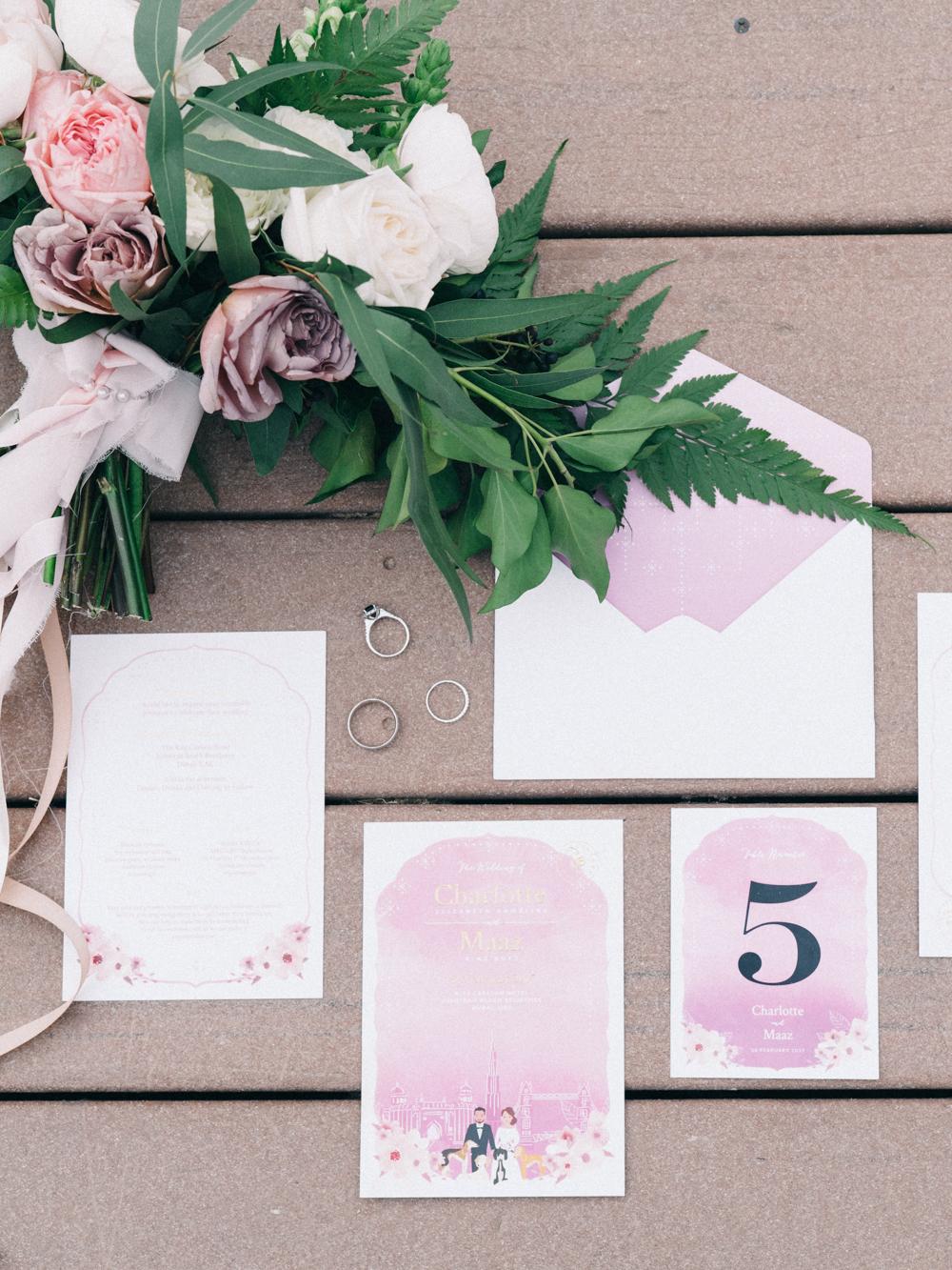 Gorgeous Simple Wedding Invitations - An Intimate Ritz Carlton Dubai Wedding