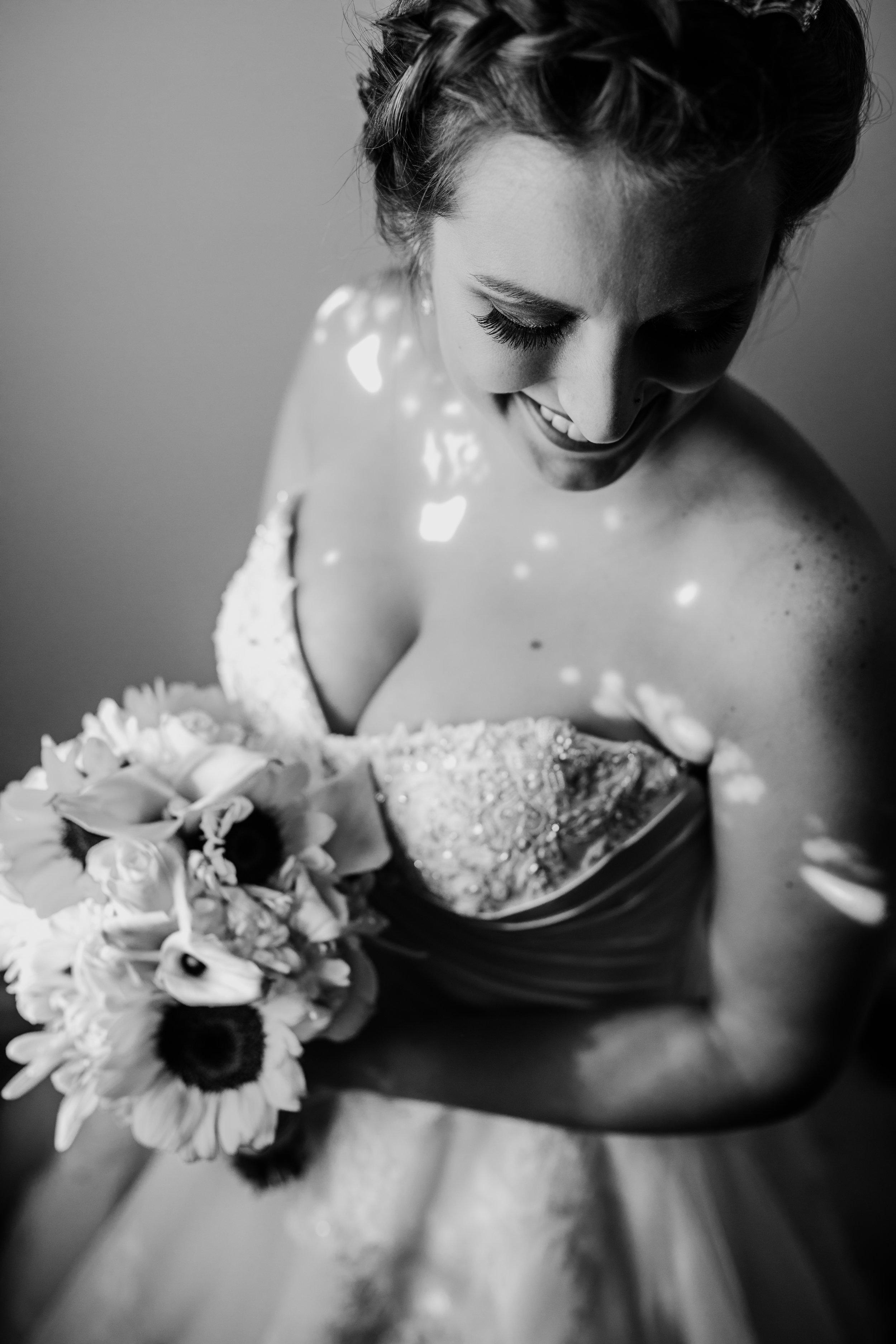 Sunflower Wedding Bouquets - A Pennsylvania Barn Swallow Farm Wedding
