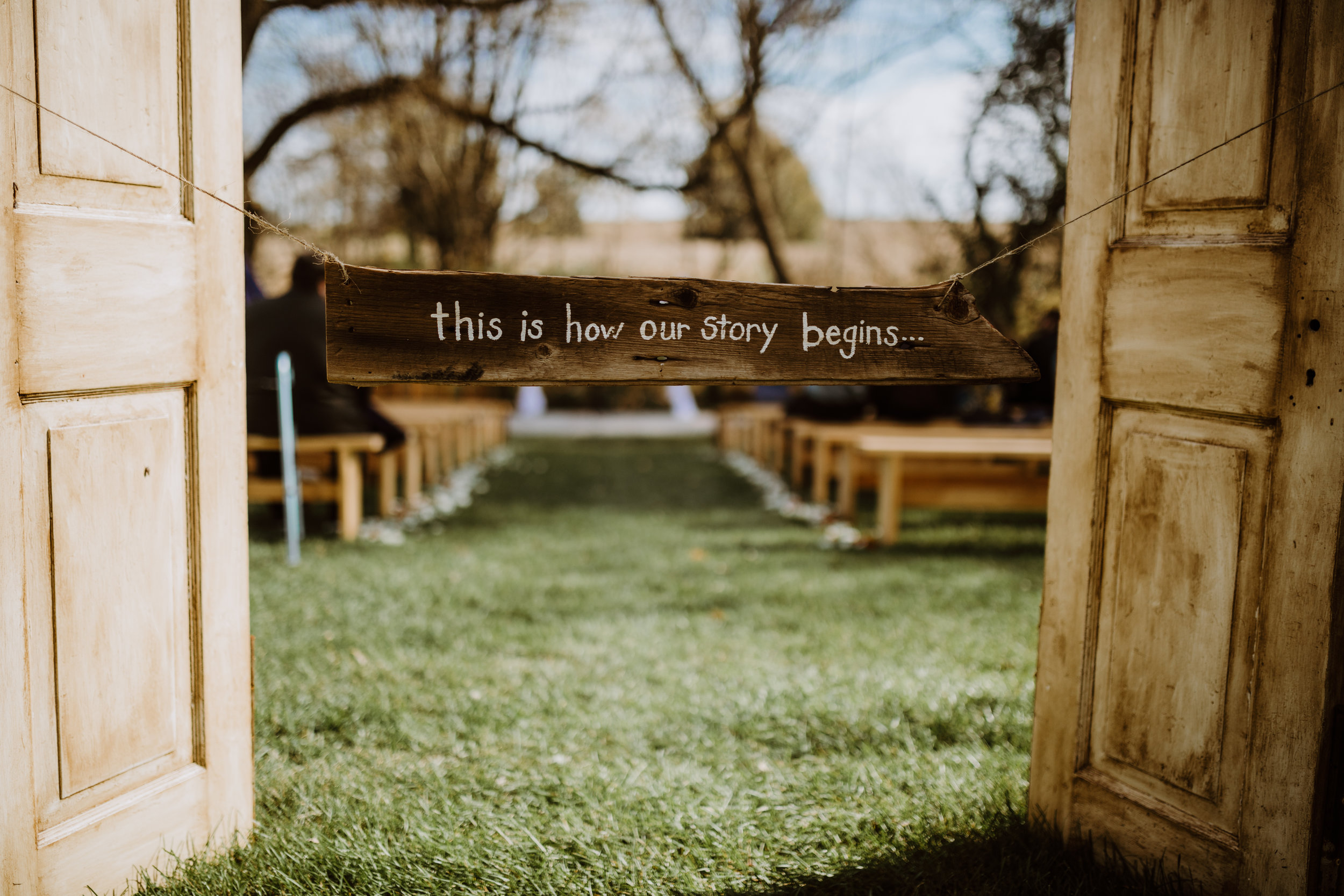 Farm Wedding Ceremony Decor - A Pennsylvania Barn Swallow Farm Wedding