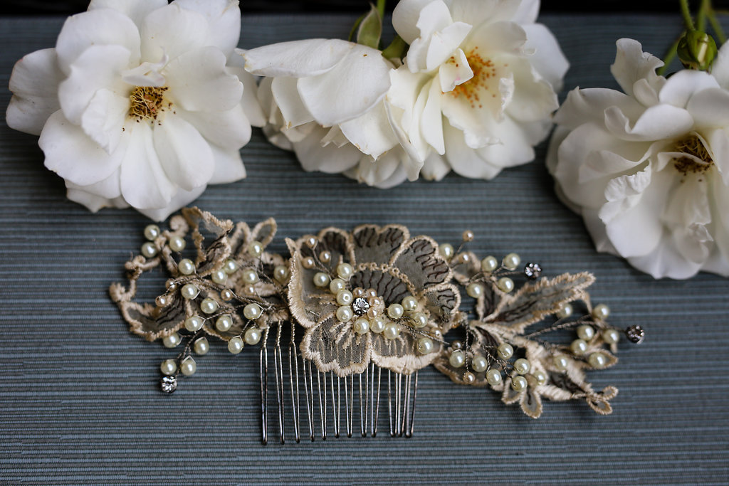 Gold Vintage Bridal Accessories - Gorgeous Seal Beach Wedding Venue - Old Country Club Wedding