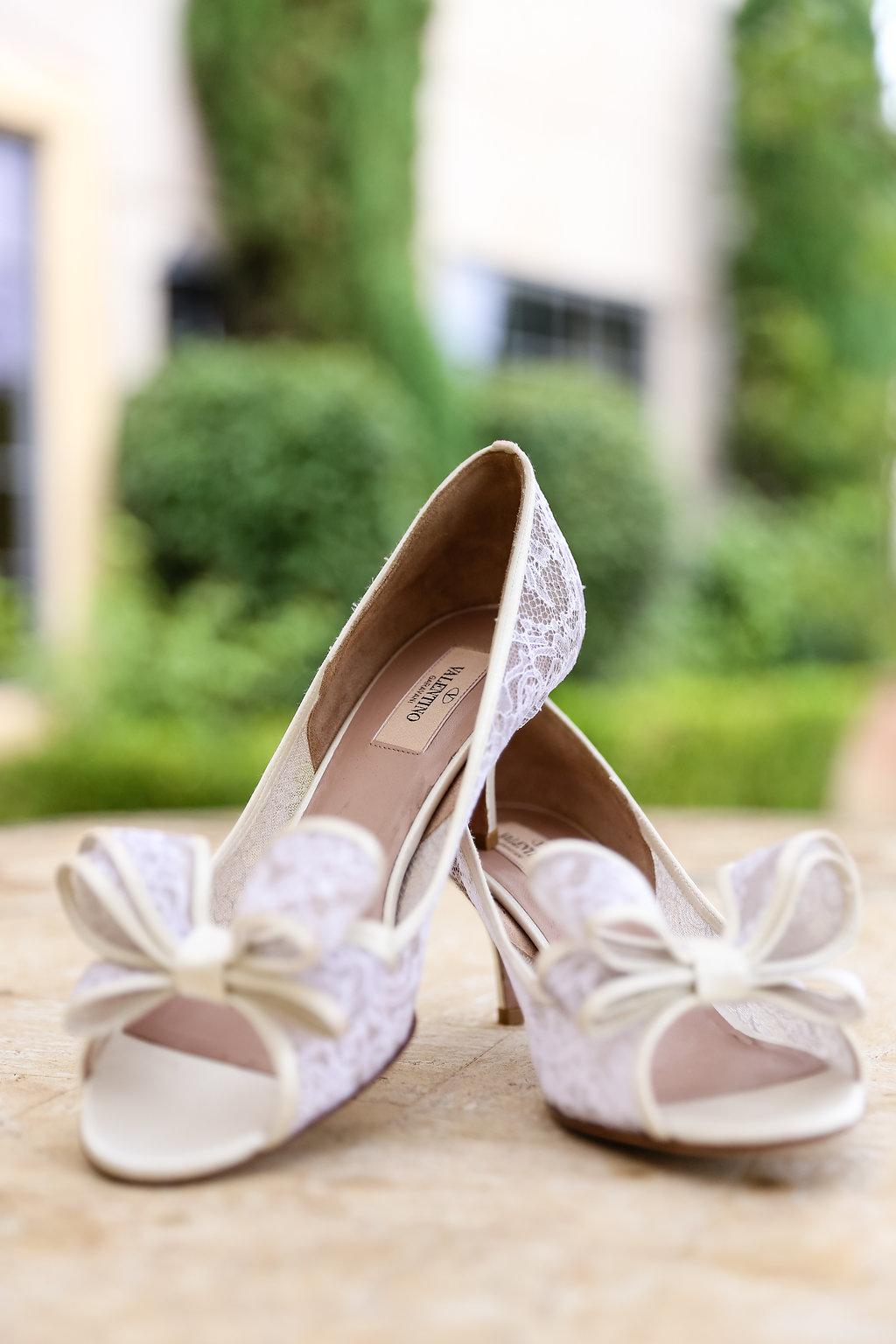 Gorgeous White Wedding Shoes - Gorgeous Seal Beach Wedding Venue - Old Country Club Wedding