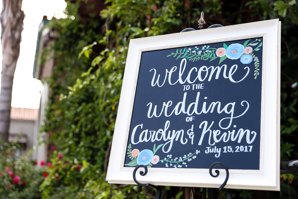 Chalkboard Wedding Signs - Gorgeous Seal Beach Wedding Venue - Old Country Club Wedding