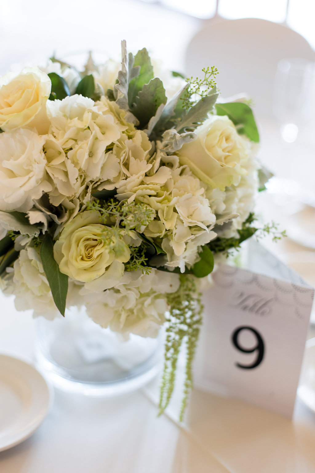 Simple Wedding Reception Centerpieces - Gorgeous Seal Beach Wedding Venue - Old Country Club Wedding
