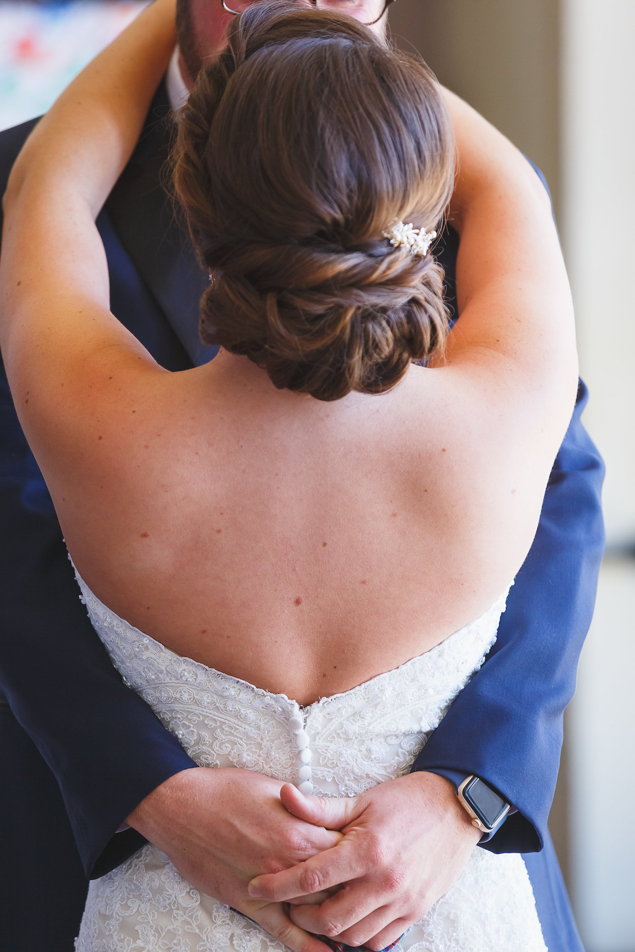 Gorgeous Bridal Bun - Science Museum of Virginia Wedding