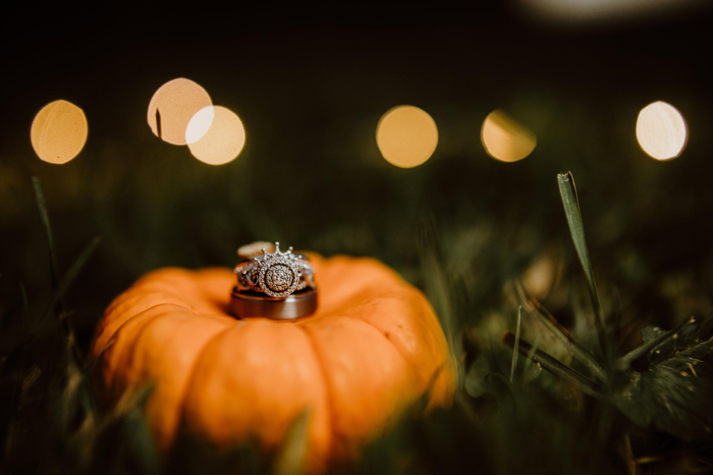 Round Halo Engagement Ring - A Pennsylvania Barn Swallow Farm Wedding