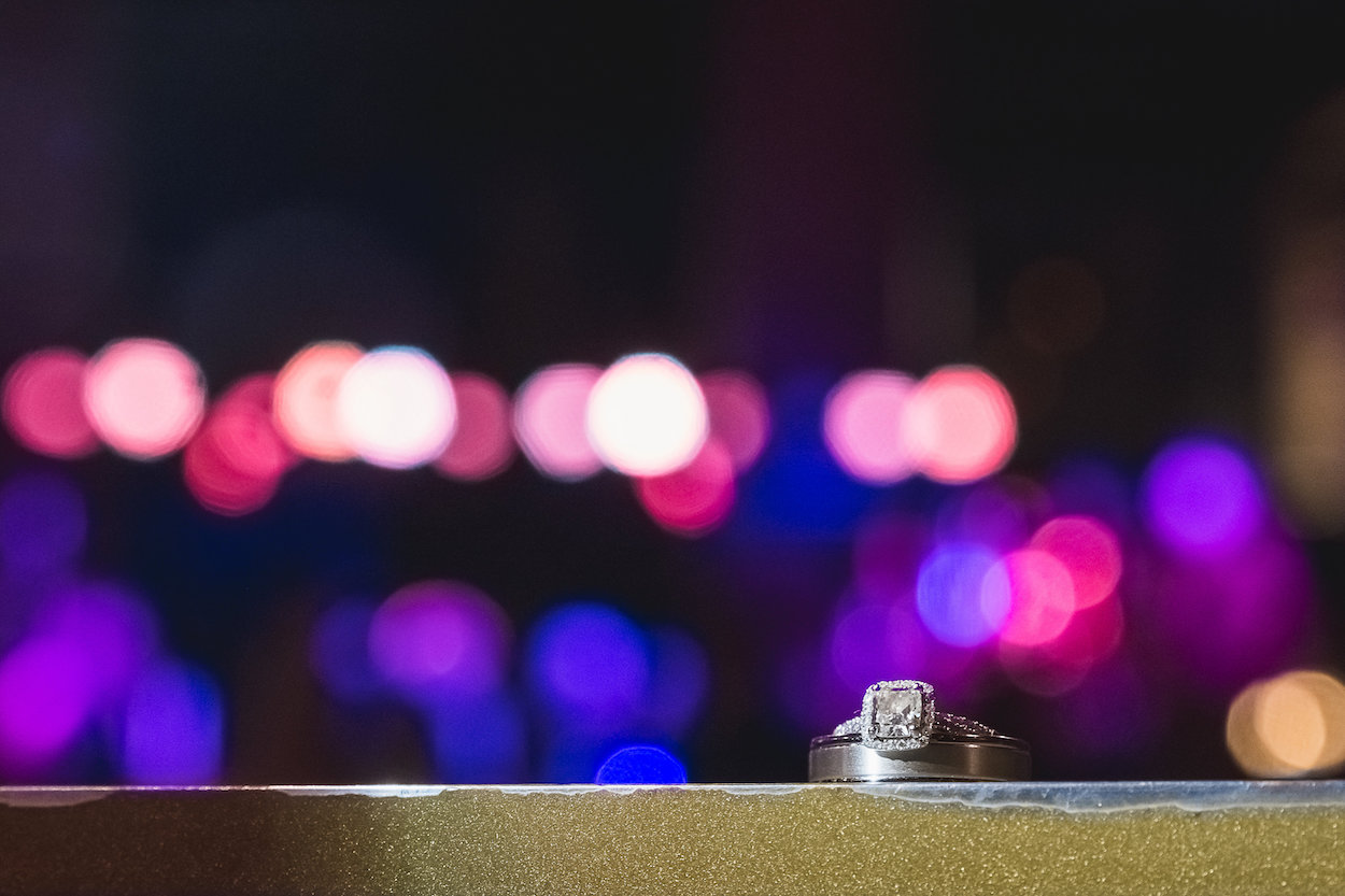 Square Halo Engagement Ring - Science Museum of Virginia Wedding