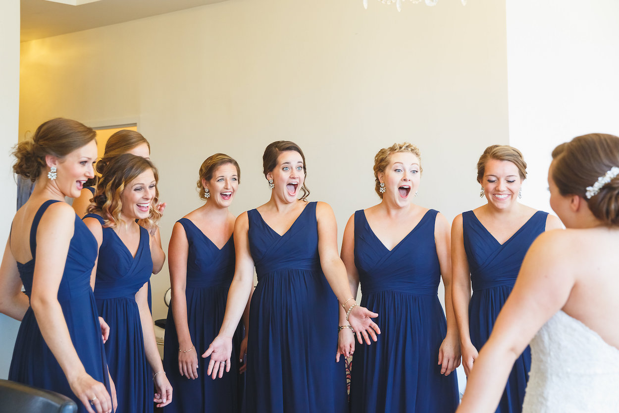 Navy Bridesmaid Dresses - Science Museum of Virginia Wedding