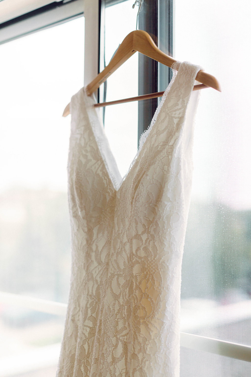 Simple Lace Wedding Dress -- Grand Rapids, Michigan Wedding
