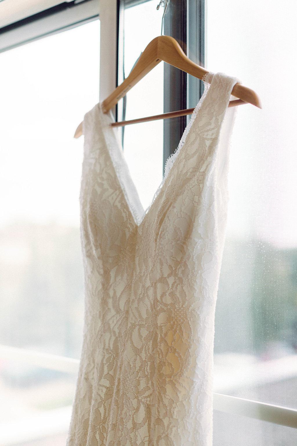 Simple Lace Wedding Dress -- Grand Rapids, Michigan Wedding