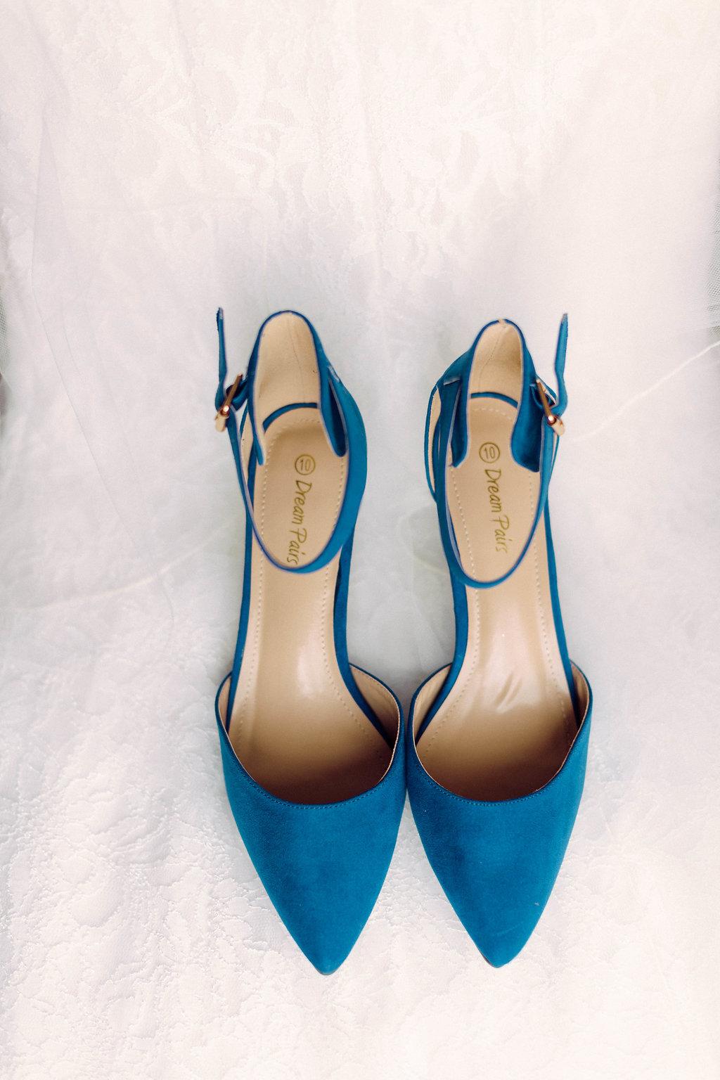 Blue Wedding Shoes -- Grand Rapids, Michigan Wedding
