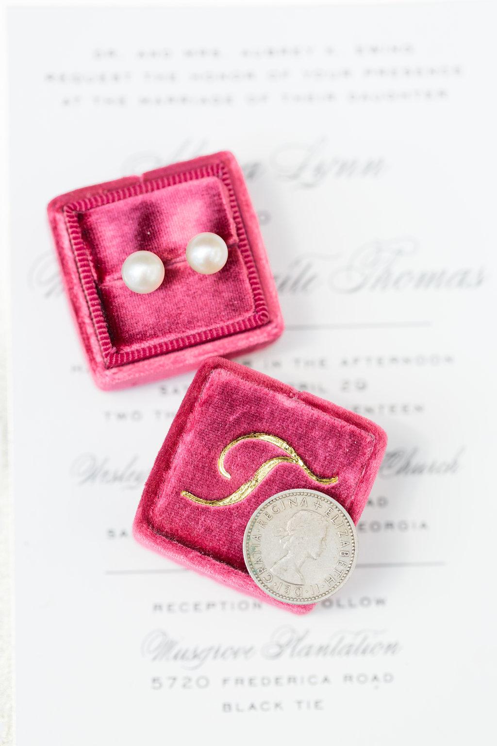 Pearl Bridal Earrings - Musgrove Plantation Georgia Wedding Venue
