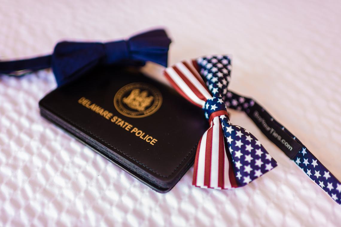American Flag Grooms Bow Tie - A Philander Chase Knox Estate Pennsylvania Wedding