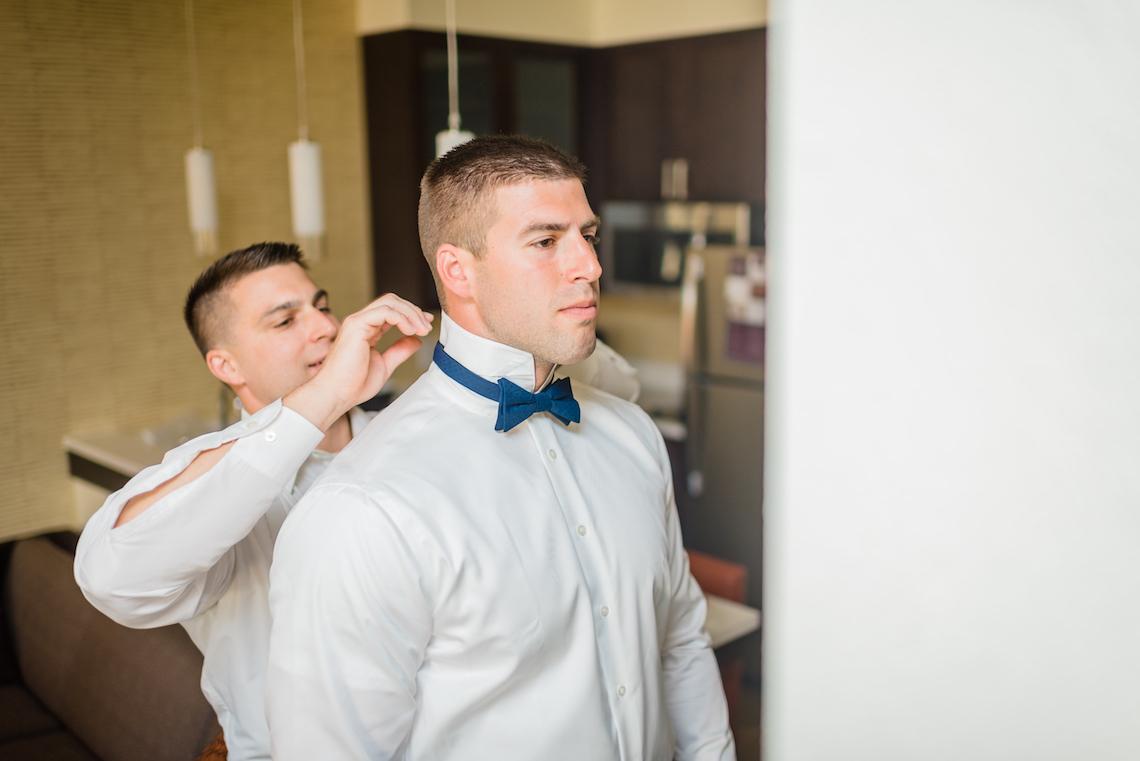 Navy Blue Grooms Bow Tie - A Philander Chase Knox Estate Pennsylvania Wedding