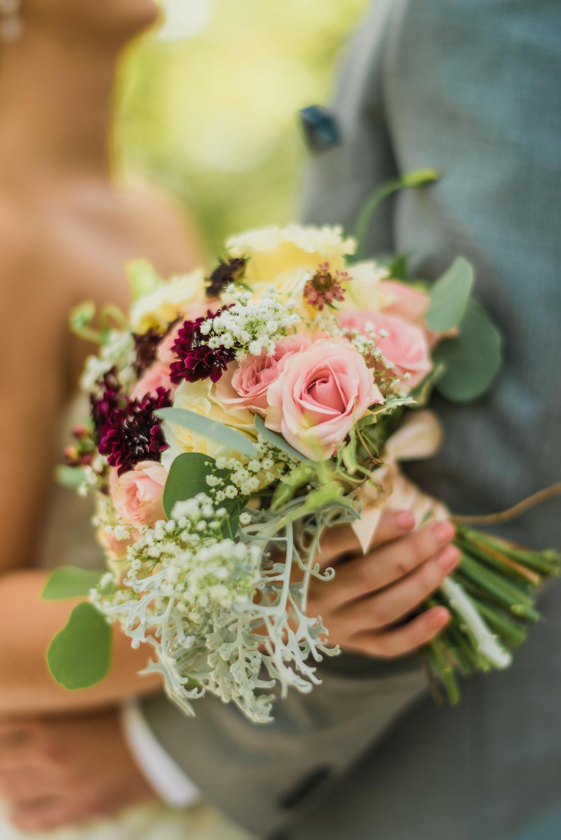 Colorful Bridal Bouquet - A Philander Chase Knox Estate Pennsylvania Wedding
