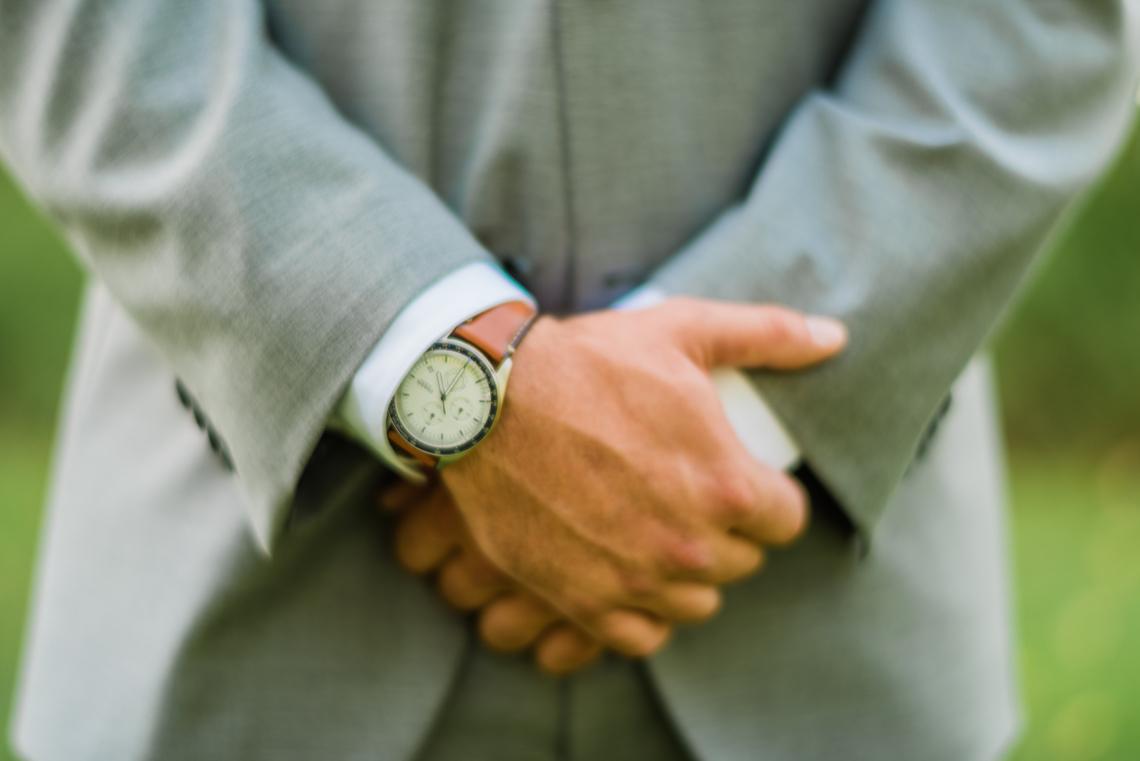 Brown Grooms Watch - A Philander Chase Knox Estate Pennsylvania Wedding
