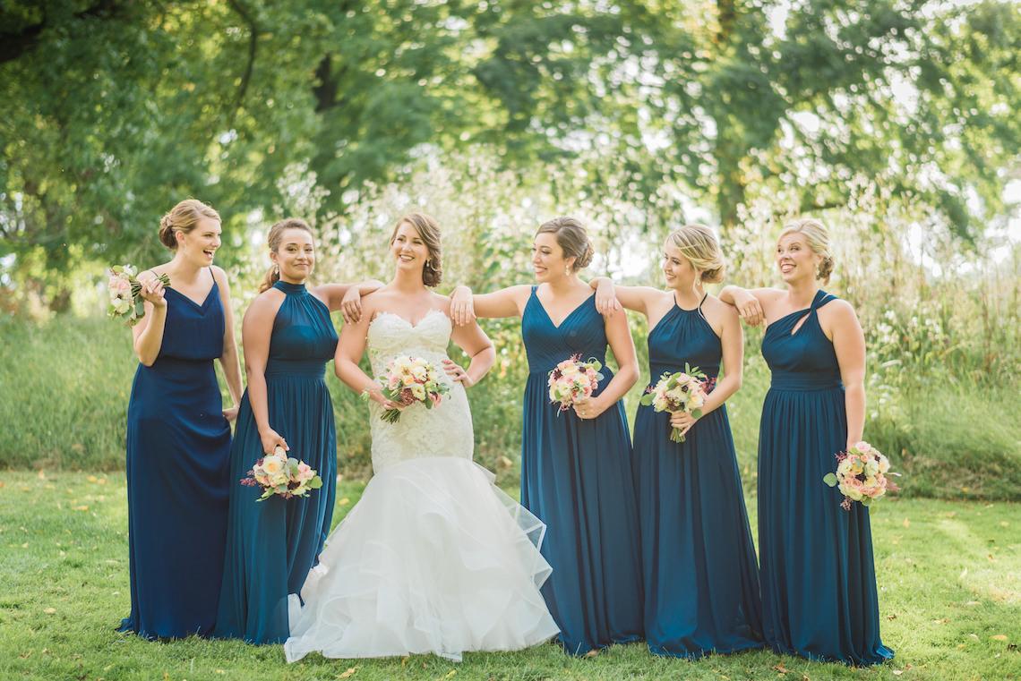 Navy Bridesmaid Dresses - A Philander Chase Knox Estate Pennsylvania Wedding