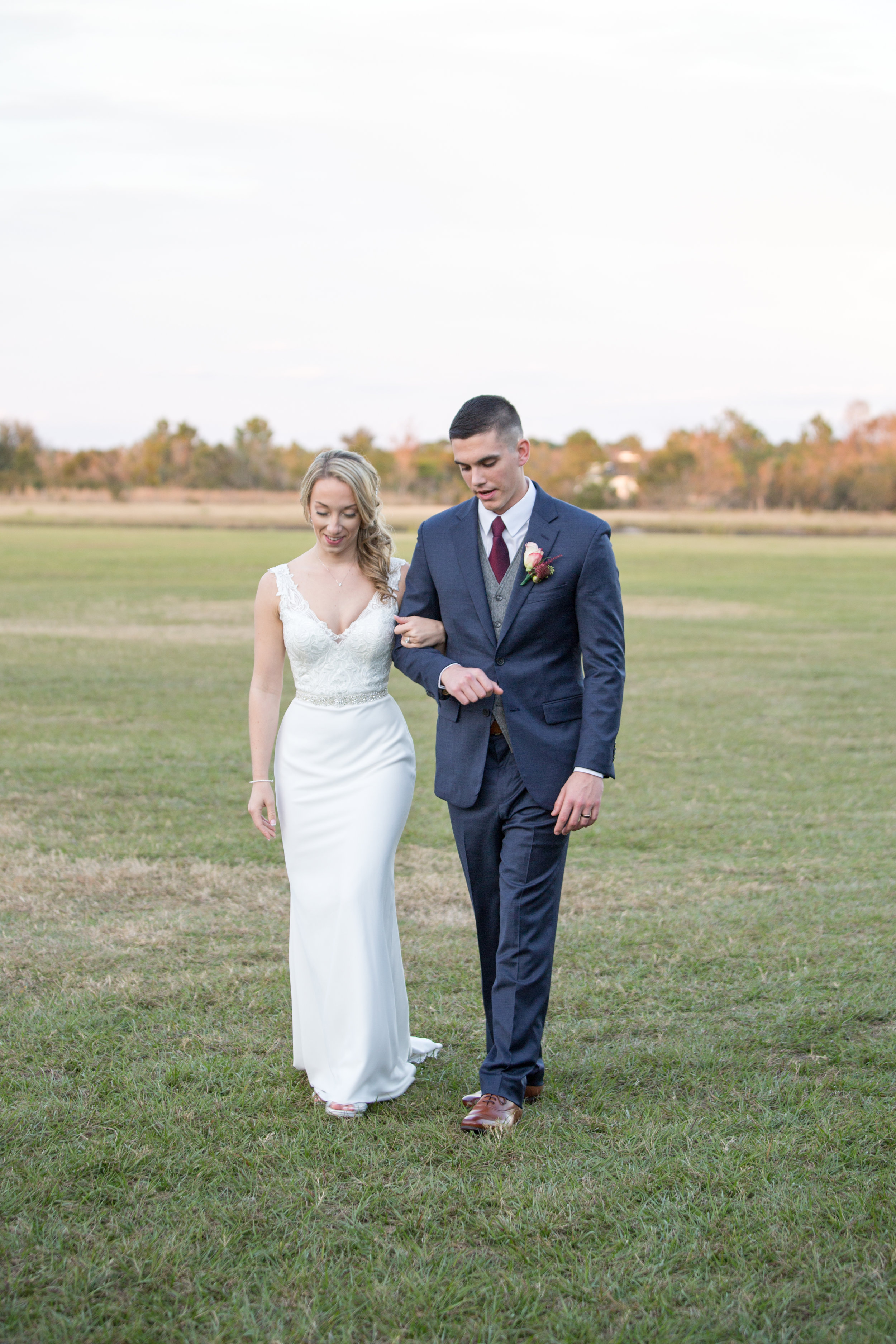 Red White and Blue Wedding -- Enchanting Barn Wedding