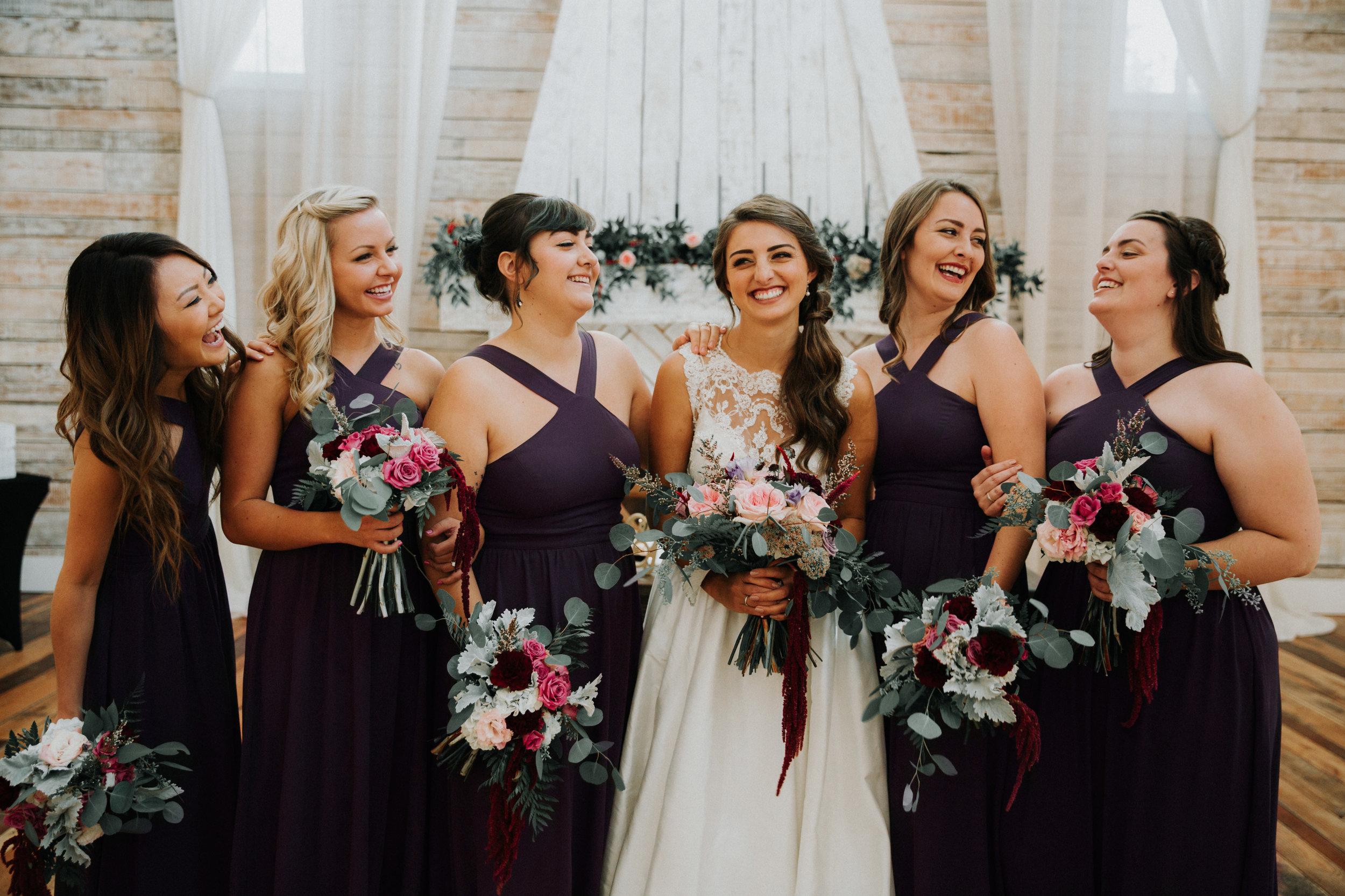 Black Bridesmaid Dresses - Athens, Tennesee Barn Wedding -- The Overwhelmed Bride Wedding Blog