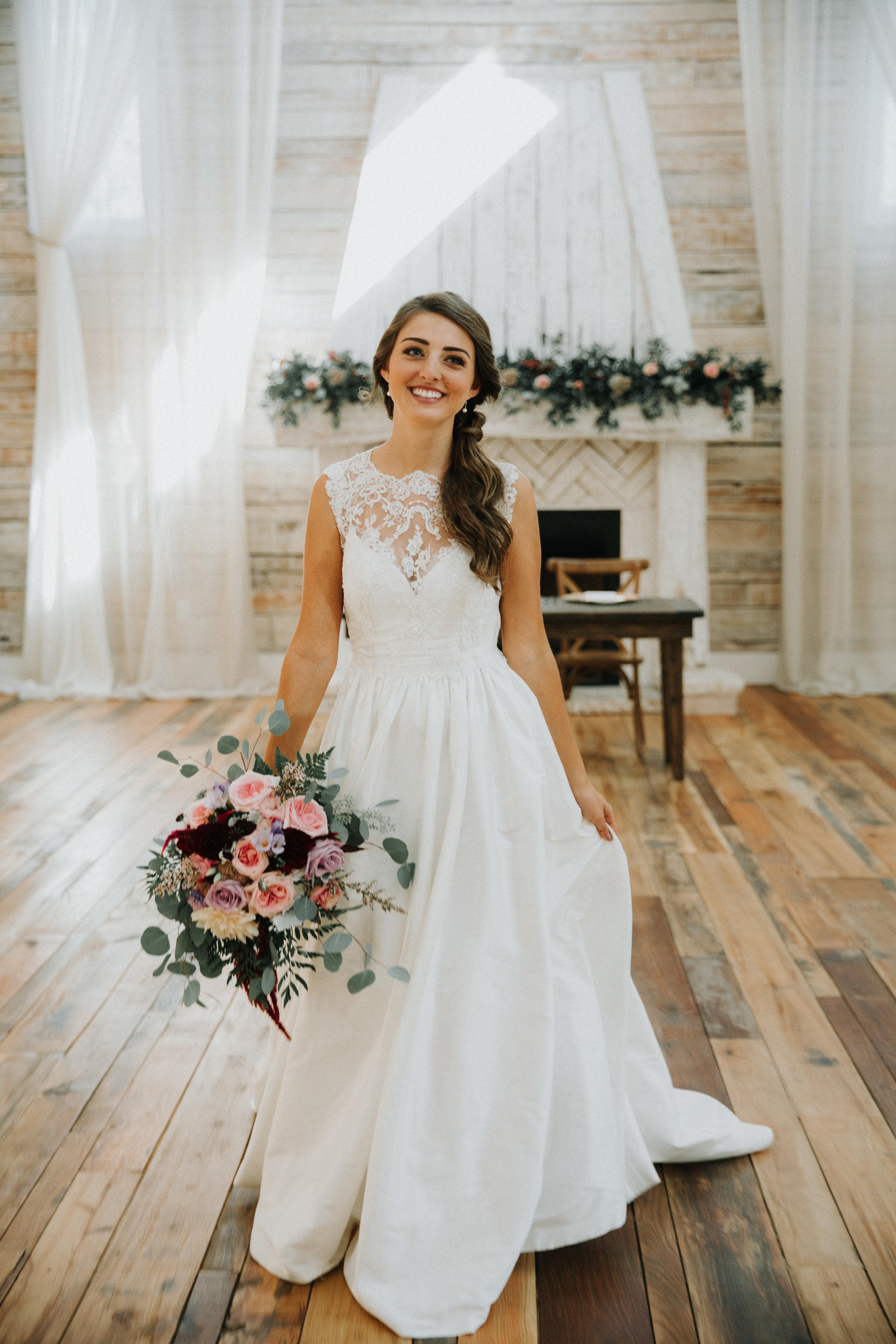 Gorgeous Wedding Dresses - Athens, Tennessee Barn Wedding -- The Overwhelmed Bride Wedding Blog