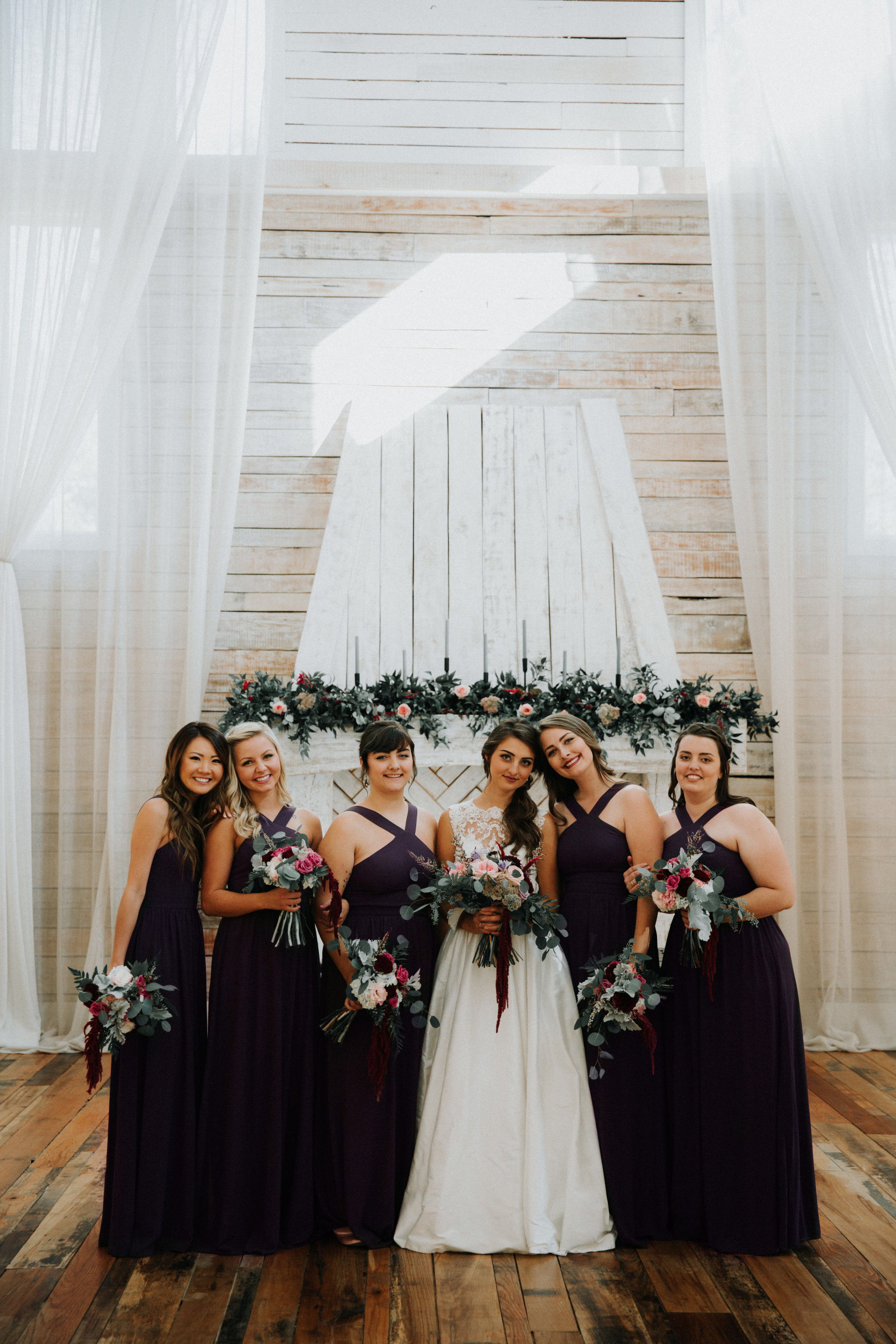 Black Bridesmaid Dresses - Athens, Tennessee Barn Wedding -- The Overwhelmed Bride Wedding Blog