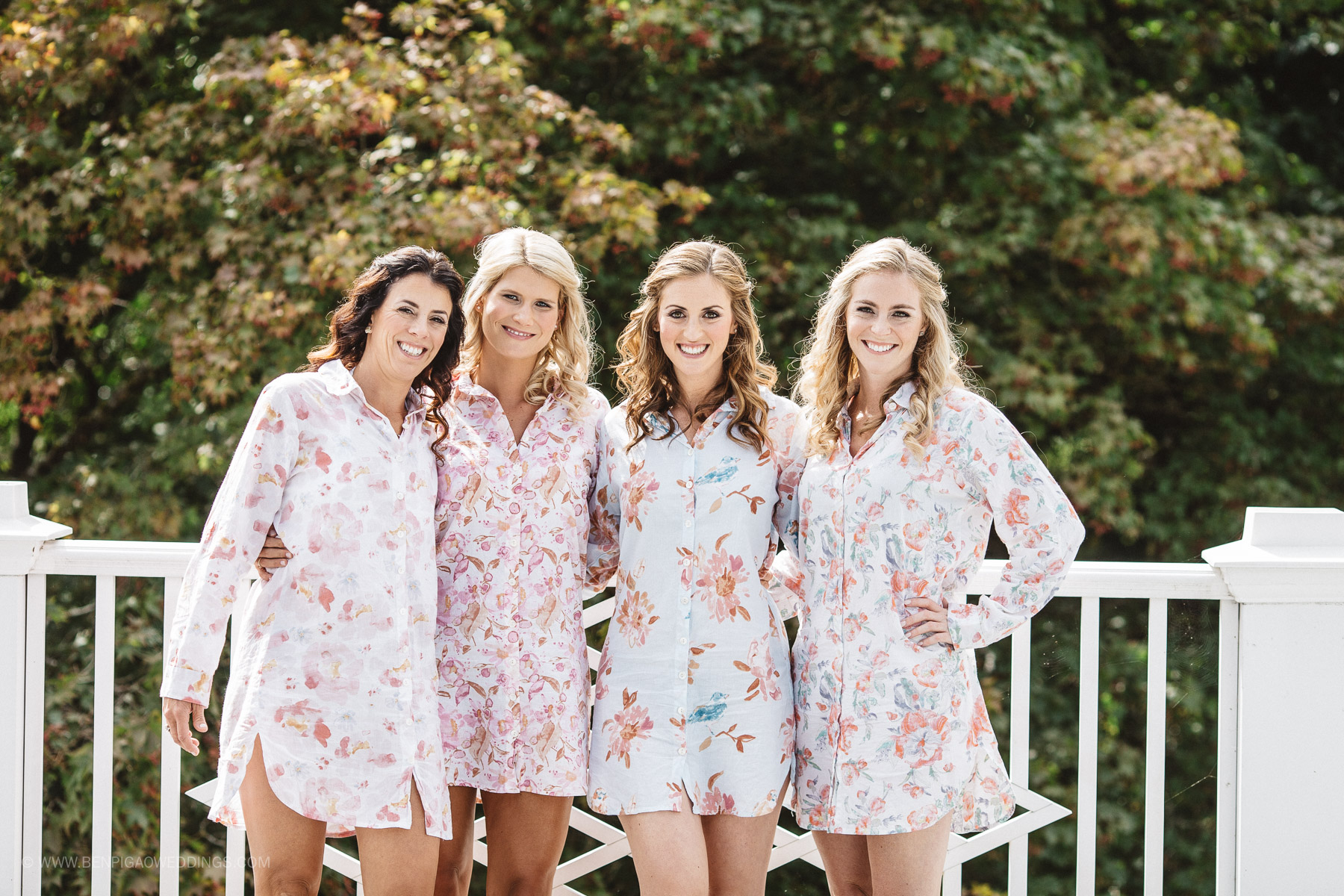 Bridesmaid Robes - Portland, Oregon Waverley Country Club Wedding