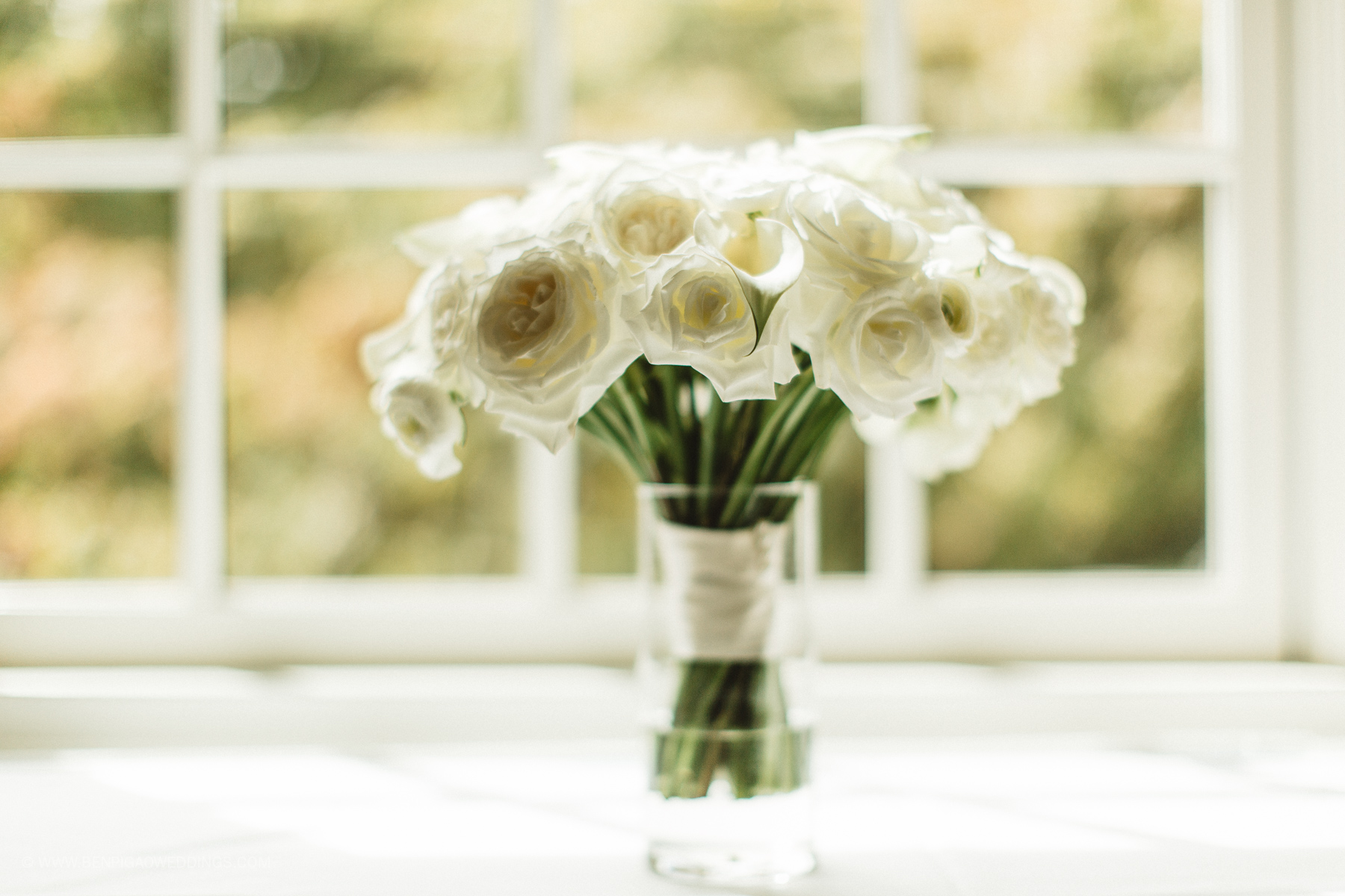 All white wedding bouquet - Portland, Oregon Waverley Country Club Wedding