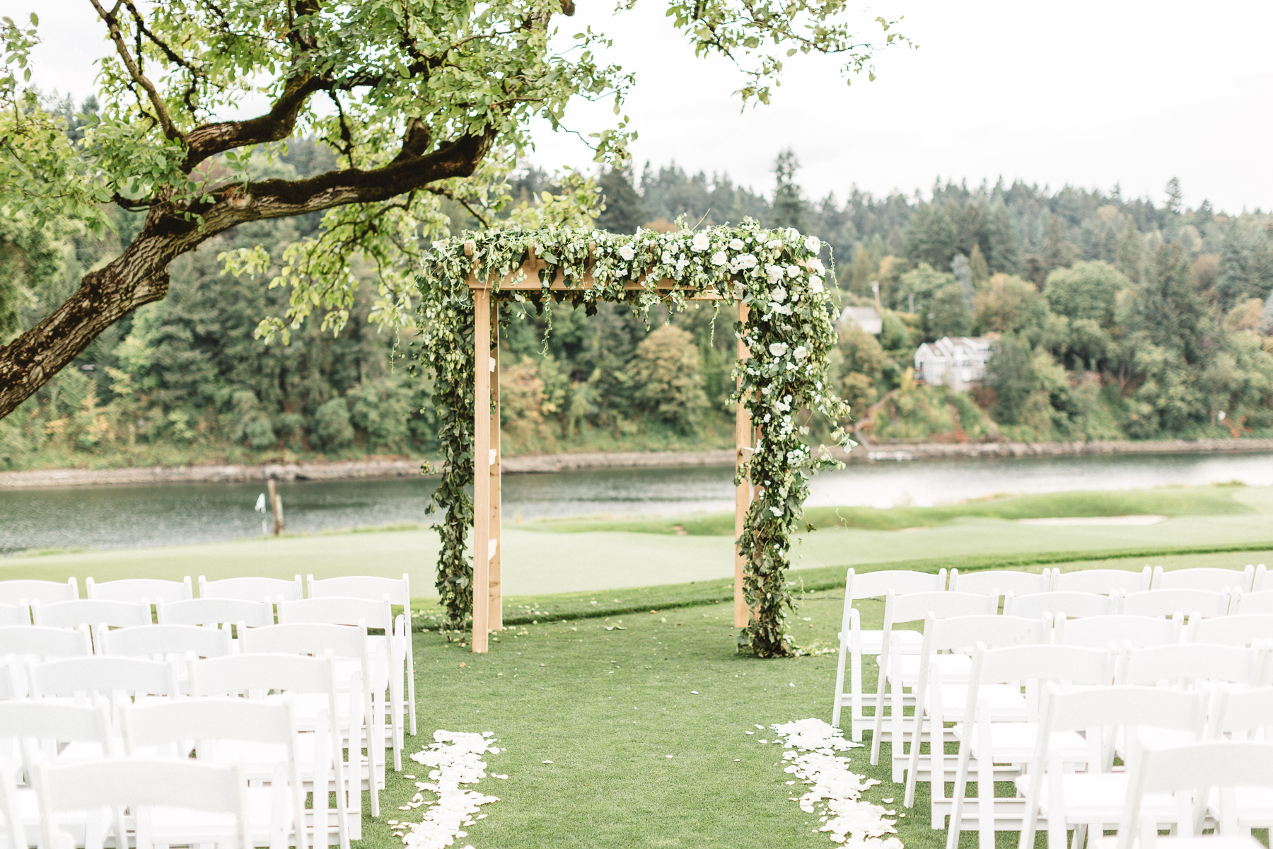 Gorgeous Outdoor Wedding Ceremony - Portland, Oregon Waverley Country Club Wedding