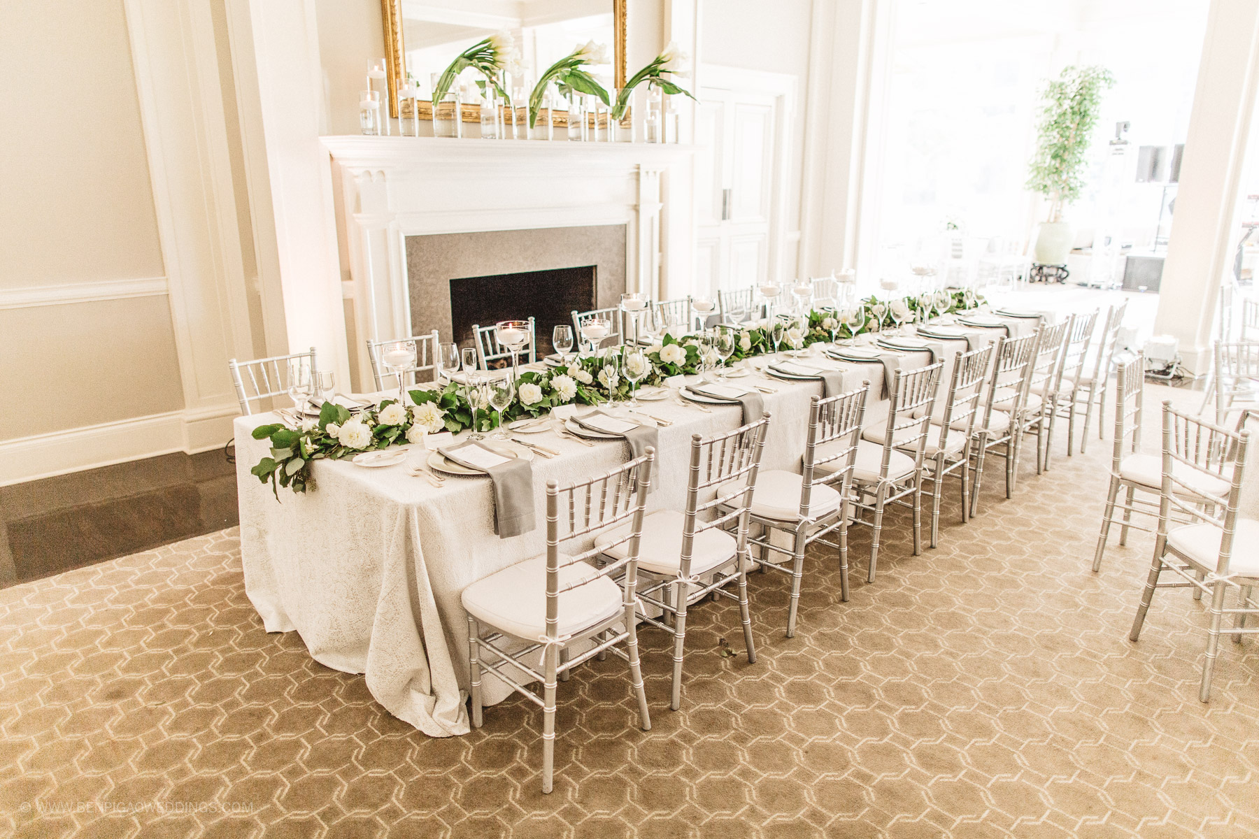 Gorgeous Simple Wedding Centerpieces - Portland, Oregon Waverley Country Club Wedding