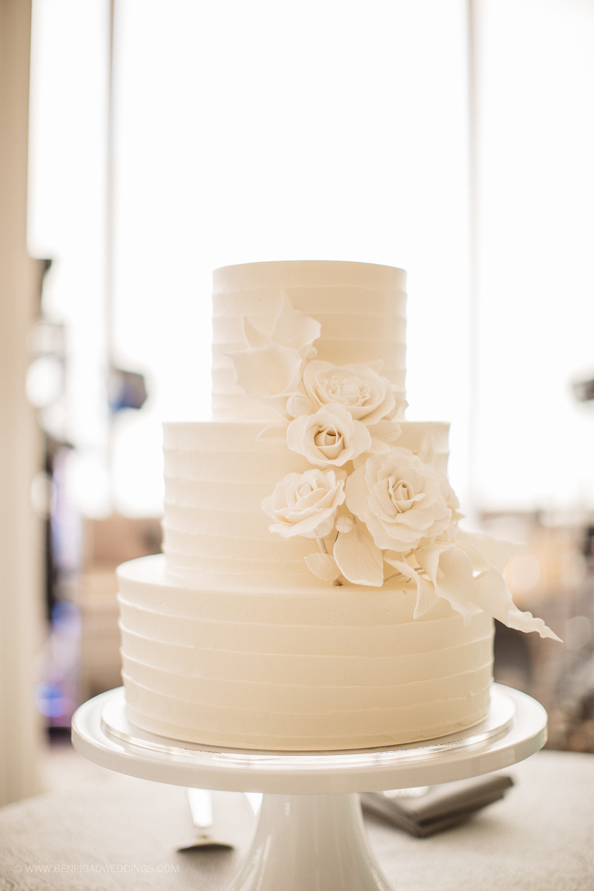 Simple All White Wedding Cakes - Portland, Oregon Waverley Country Club Wedding