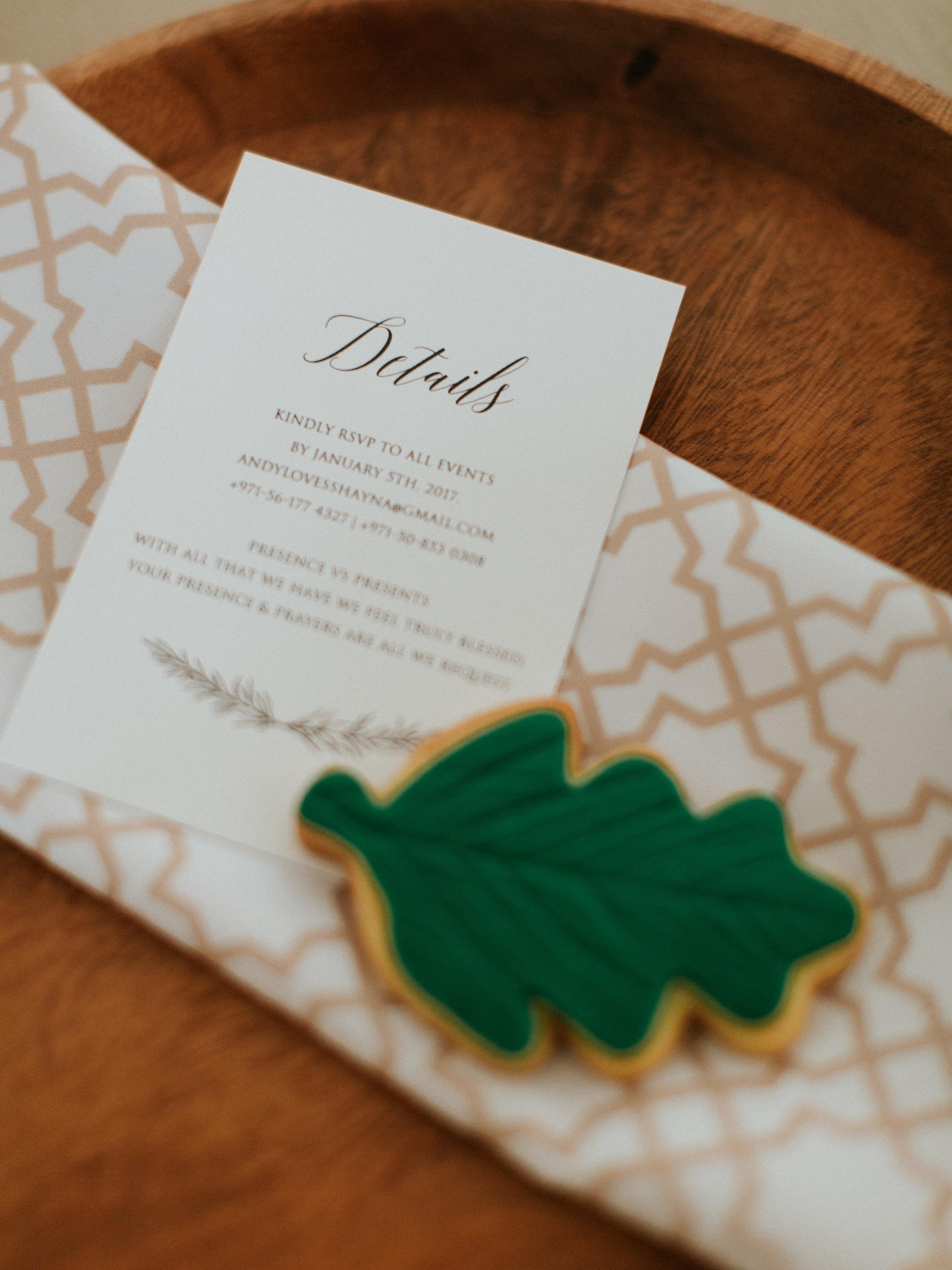 Vintage Wedding Invitations - Blue Blanc Dubai Vintage Wedding