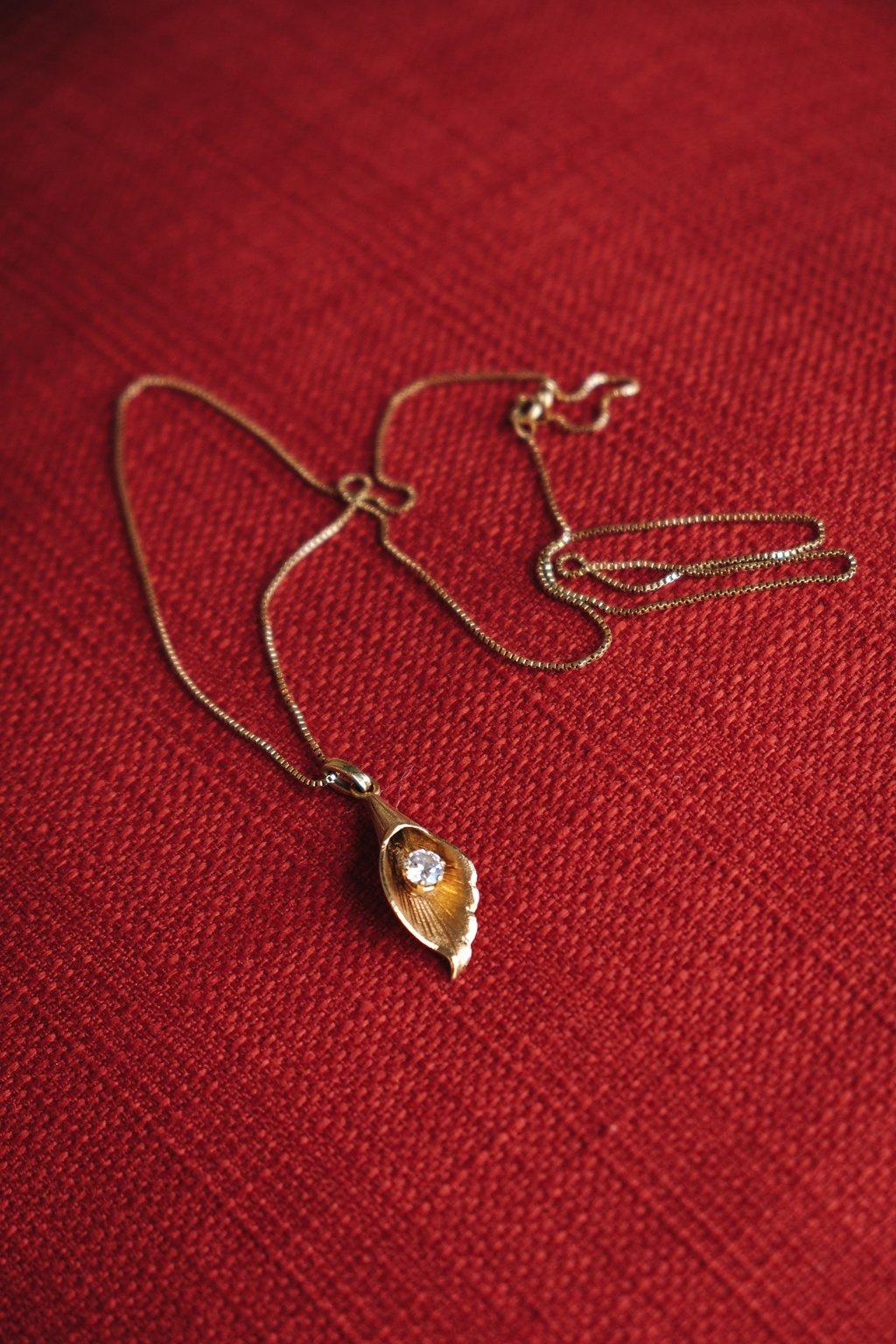 Gorgeous Gold Bride Necklace - Farm-Forest Wedding - The Overwhelmed Bride Wedding Blog