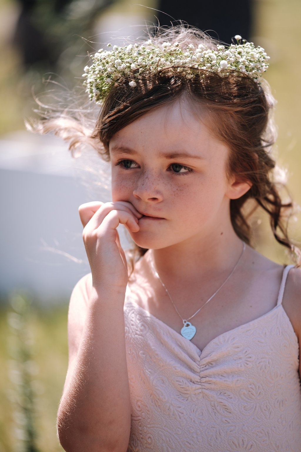 Cute Flower Girl Dresses - Farm-Forest Wedding - The Overwhelmed Bride Wedding Blog