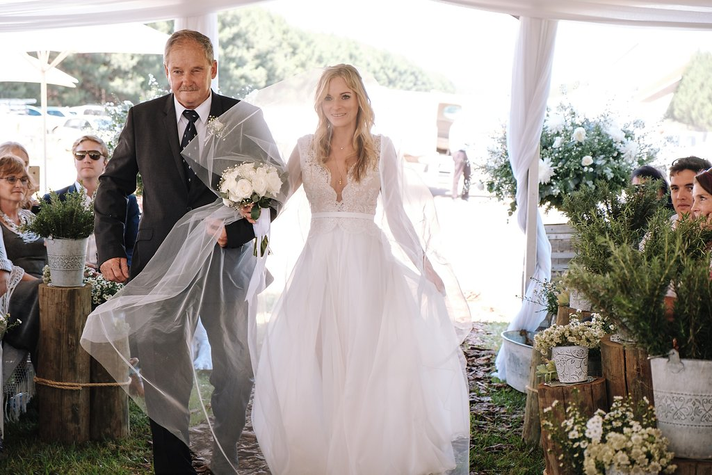 Gorgeous Simple Wedding Dresses - Farm-Forest Wedding - The Overwhelmed Bride Wedding Blog