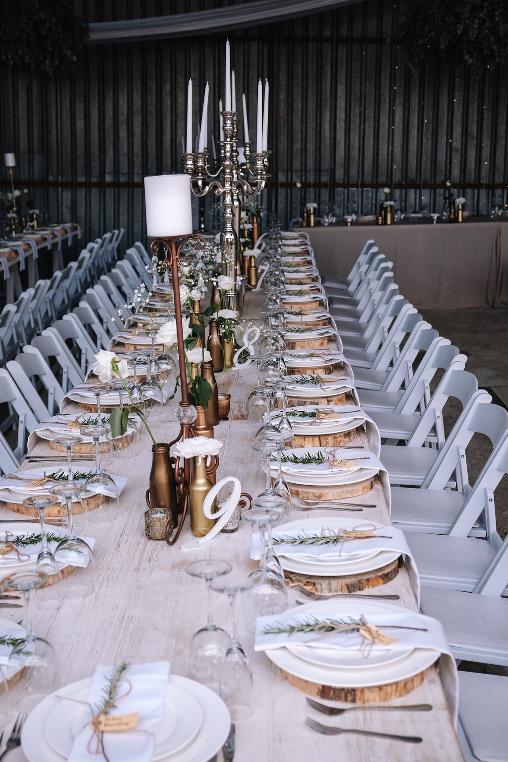 Gorgeous Simple Wedding Centerieces - Farm-Forest Wedding - The Overwhelmed Bride Wedding Blog