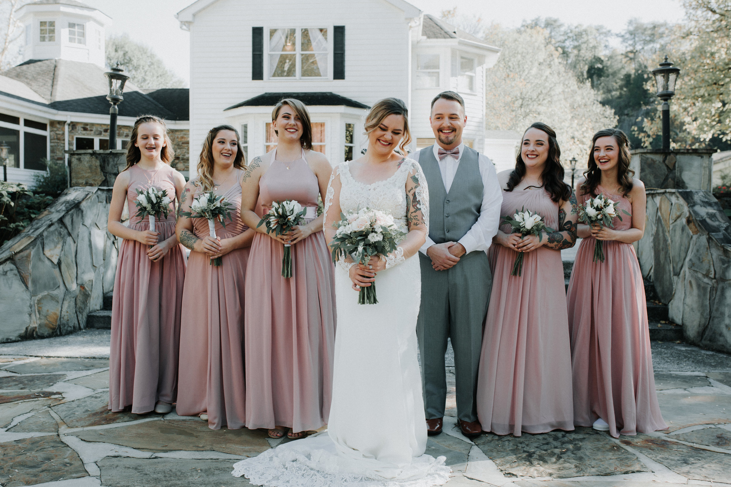Blush Bridesmaid Dresses - Dara's Garden Knoxville East Tennessee Wedding — The Overwhelmed Bride Wedding Blog