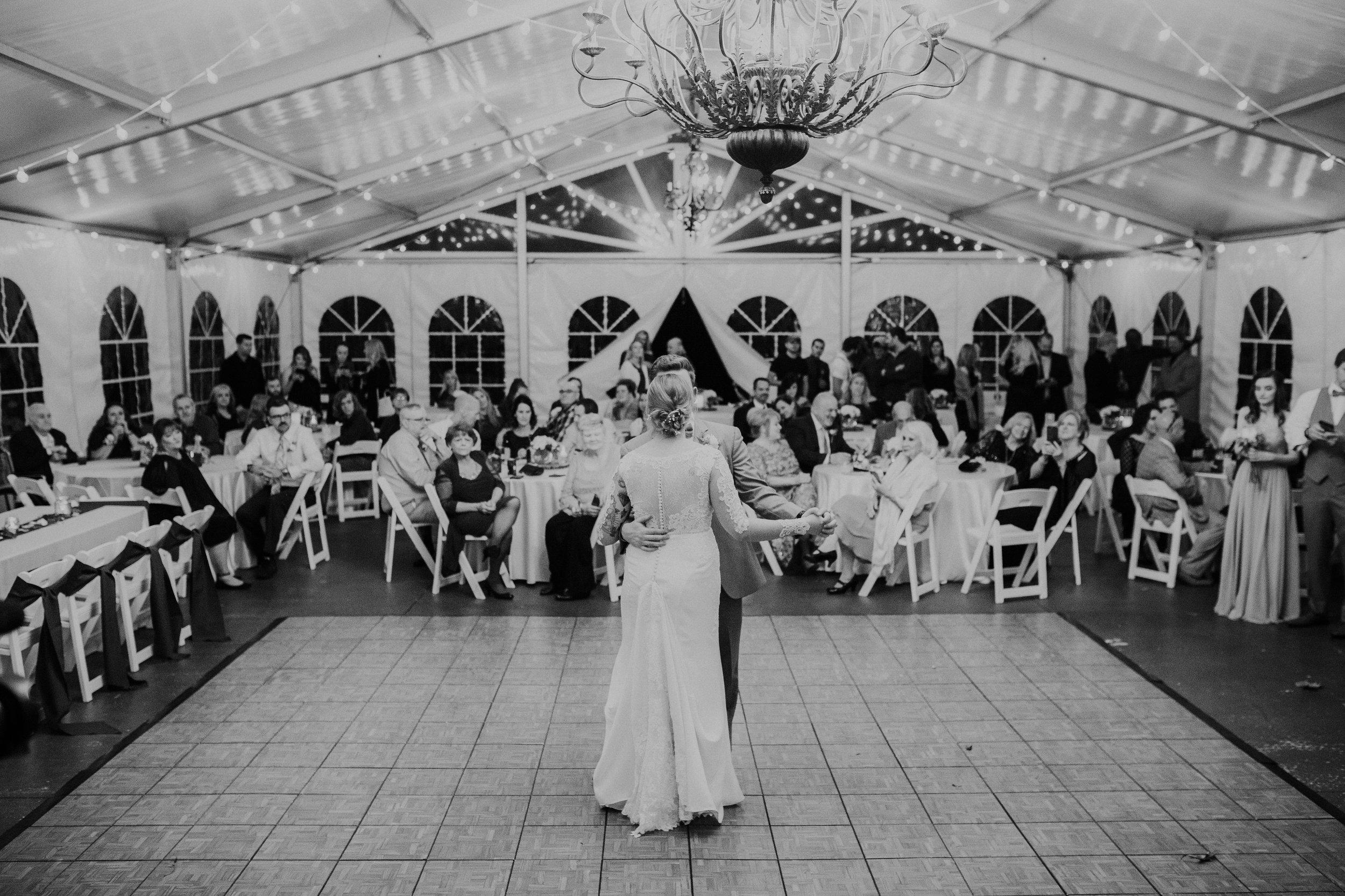 Gorgeous Wedding First Dance Photos - Dara's Garden Knoxville East Tennessee Wedding — The Overwhelmed Bride Wedding Blog