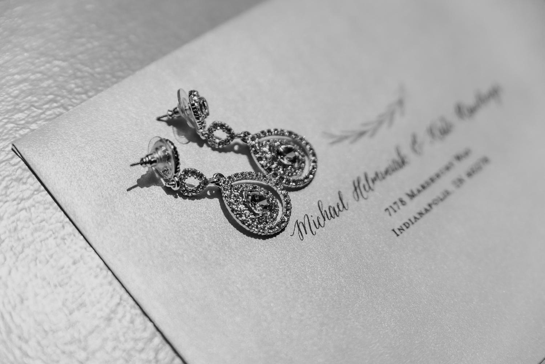 Bridal Earrings - Classic Indianapolis Wedding - Canal 337 Wedding - The Overwhelmed Bride Wedding Blog
