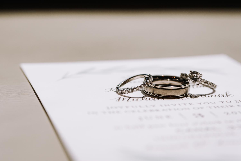 Gorgeous Engagement Ring - Classic Indianapolis Wedding - Canal 337 Wedding - The Overwhelmed Bride Wedding Blog