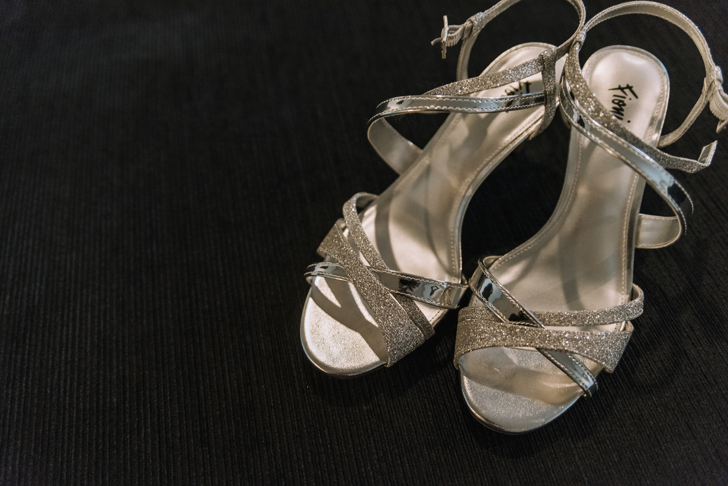 Silver Bridal Shoes - Classic Indianapolis Wedding - Canal 337 Wedding - The Overwhelmed Bride Wedding Blog