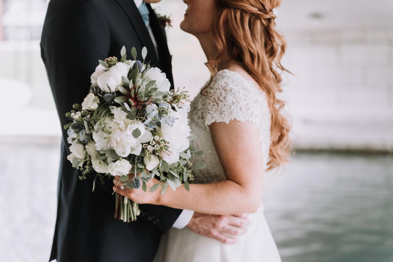 Gorgeous Wedding Bouquets - Classic Indianapolis Wedding - Canal 337 Wedding - The Overwhelmed Bride Wedding Blog